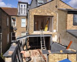Side Rear Extension in progress in south west London wimbledon