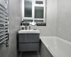 waterproof concrete floor and walls finish for bathroom
